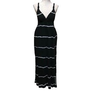 Lucky Brand Tie Dye Striped Maxi Dress